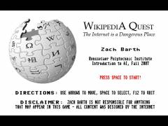 The Wikipedia Quest title screen.